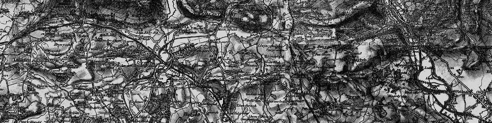 Old map of Groes-faen in 1897