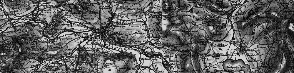 Old map of Abercynrig in 1898