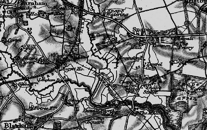 Old map of Langham Br in 1898