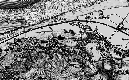 Old map of Tyn-y-Morfa in 1896