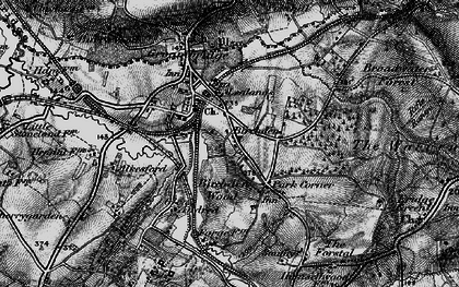 Old map of Groombridge in 1895