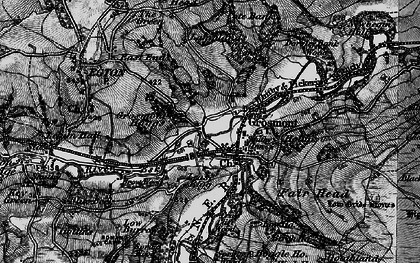 Old map of Grosmont in 1898