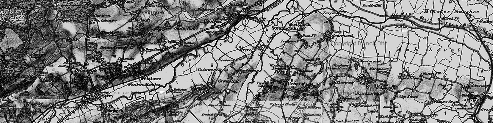 Old map of Grove in 1895