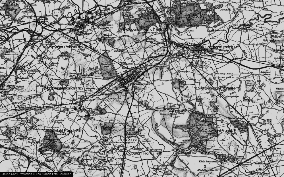 Old Map of Historic Map covering Baghill Sta in 1896