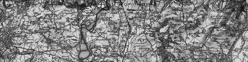 Old map of Grovesend in 1897
