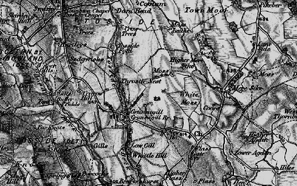 Old map of Lane Side in 1898