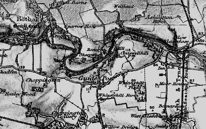Old map of Guide Post in 1897