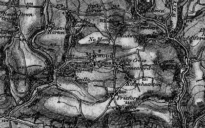 Old map of Wigley Cross in 1898