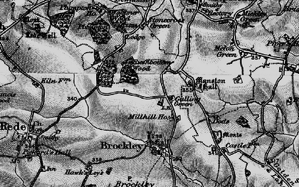 Old map of Woolmer Wood in 1898
