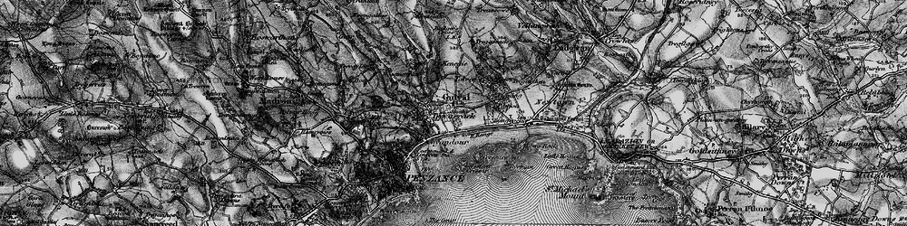 Old map of Gulval in 1895