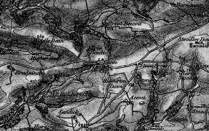 Old map of Whitsford in 1898