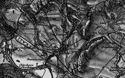 Old map of Gunnerton in 1897