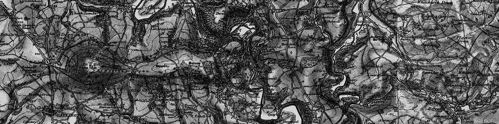 Old map of Gunnislake in 1896