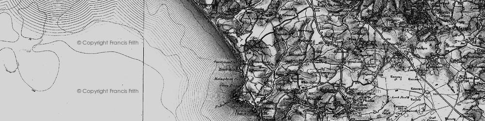 Old map of Gunwalloe in 1895
