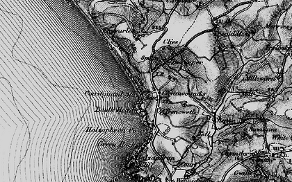 Old map of Gunwalloe Fishing Cove in 1895