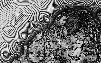 Old map of Gurnard in 1895