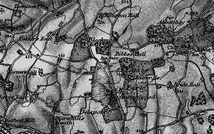 Old map of Gustard Wood in 1896