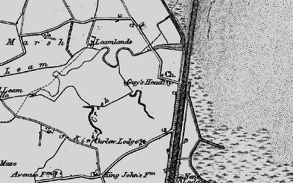 Old map of Leamlands in 1898