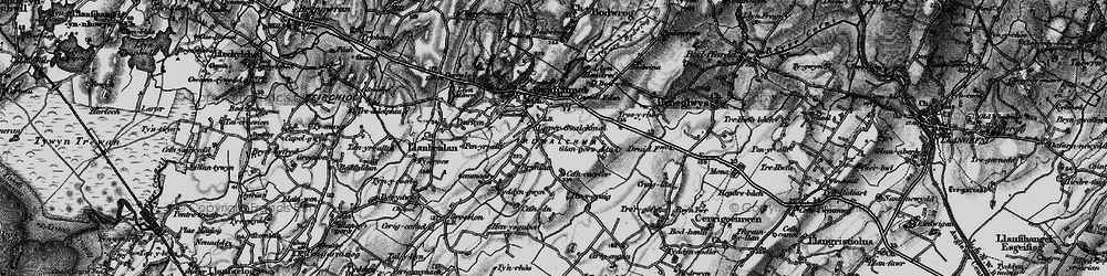 Old map of Anglesey Show Ground in 1899