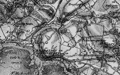Old map of Gwallon in 1895
