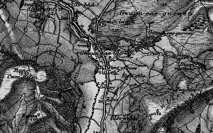 Old map of Baily Glas Uchaf in 1897