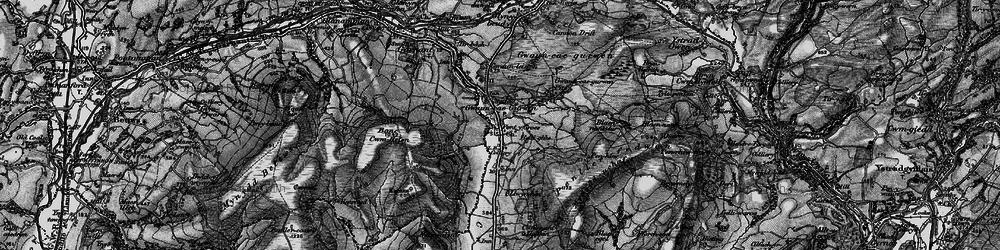 Old map of Gwaun-Cae-Gurwen in 1897