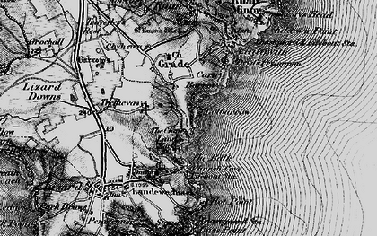 Old map of Whale Rock in 1895