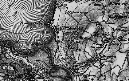 Old map of Gwbert in 1898