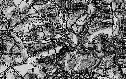 Old map of Gweek in 1895