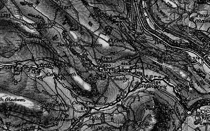 Old map of Wye Valley Walk in 1898