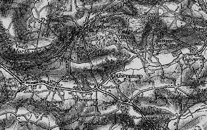 Old map of Gwennap in 1895