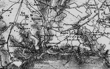Old map of Gwenter in 1895
