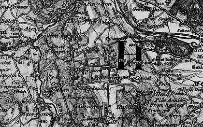 Old map of Gwernaffield in 1897