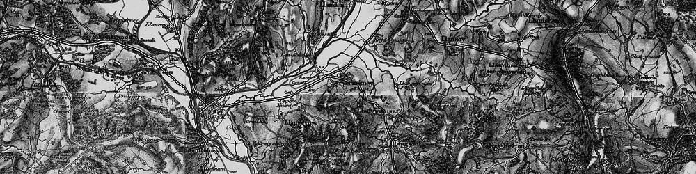 Old map of Allt-y-bela in 1897