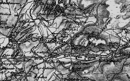 Old map of Gwernol in 1897