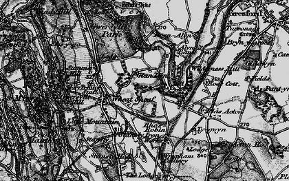 Old map of Gwersyllt in 1897