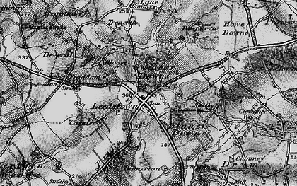 Old map of Gwinear Downs in 1896