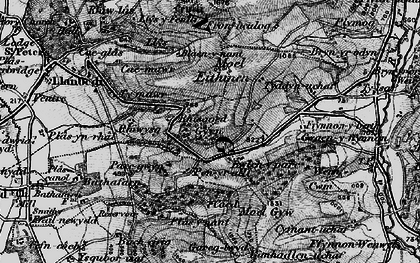 Old map of Gyrn in 1897