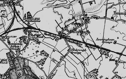 Old map of Habrough in 1895