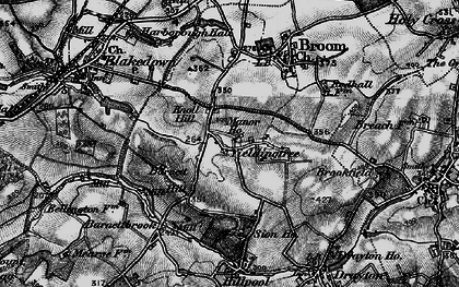 Old map of Yieldingtree in 1899