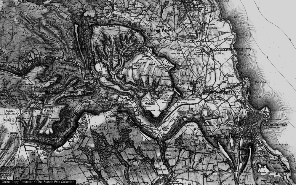Old Map of Hackness, 1897 in 1897