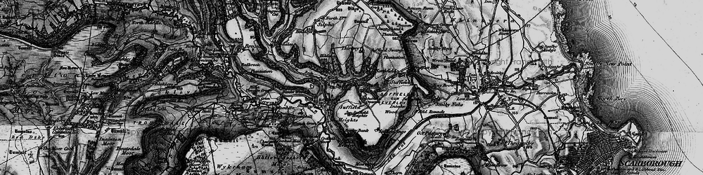 Old map of Wrench Green in 1897