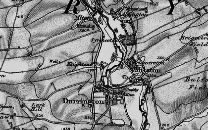 Old map of Hackthorn in 1898