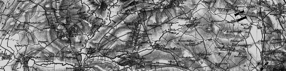 Old map of Haddenham in 1895