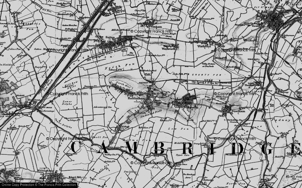 Old Map of Historic Map covering Linden End Field in 1898