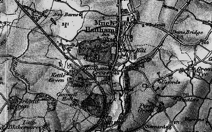 Old map of Hadham Cross in 1896