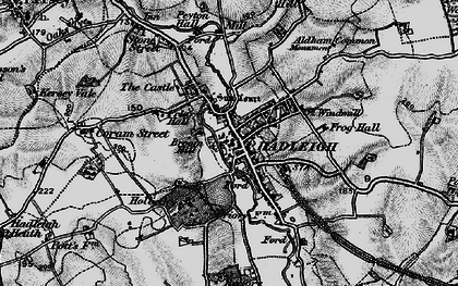 Old map of Hadleigh in 1896