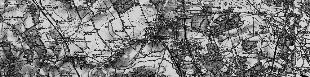 Old map of Hadley in 1896