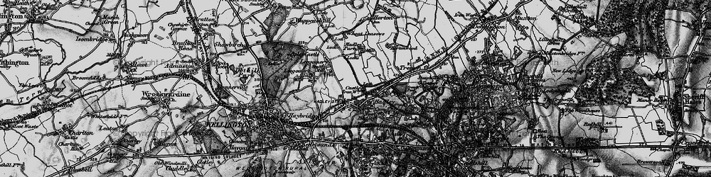 Old map of Hadley in 1899
