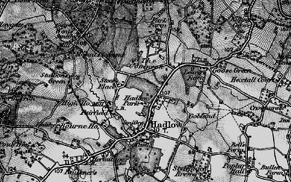 Old map of Hadlow in 1895